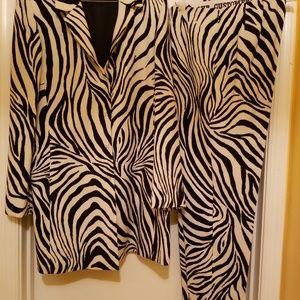 Zebra Print Pant Suit
